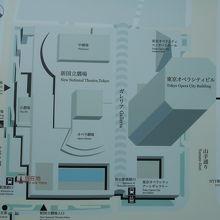 街区の配置案内図