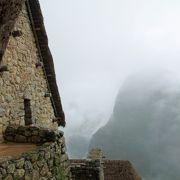 マチュピチュ遺跡入り口の小屋