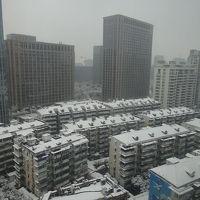 杭州で雪が積もるのは珍しいそうです。