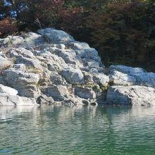 長瀞岩畳を見ながら