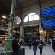 パリ北駅からタリスに乗車