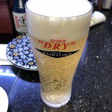 生ビール最高です