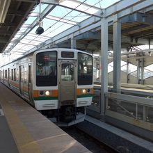 駅ホームと電車