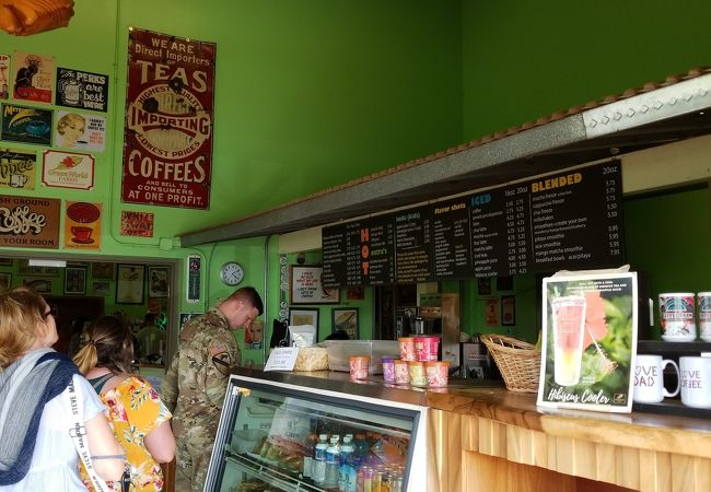 ハワイのドライブ途中でコーヒーファーム