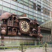 印象的な大時計