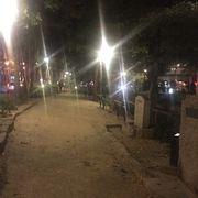 岡山の川沿いの緑道