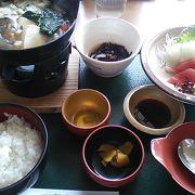 鱈鍋と刺身定食