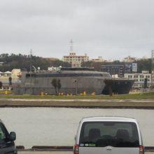 """停泊していた米海軍の高速輸送艦 """"HST-1 グアム"""""""