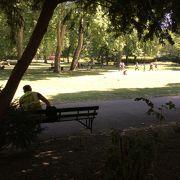 大英博物館の前にある公園