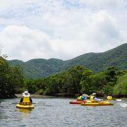 カヌー体験で奄美の自然を満喫