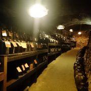 洞窟熟成庫の見学ができます