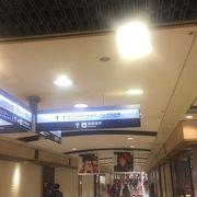 岡山駅前の地下商店街