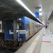 南港車站で捷運板南線に乗り換えました。