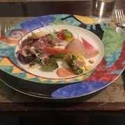 ホテルモントレ長崎1Fのレストランでランチのコースをいただく