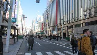 銀座から日本橋に至るメイン通り」