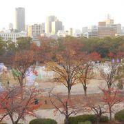 大阪城空堀の西の庭園