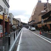 芦原温泉の温泉街を構成している通り