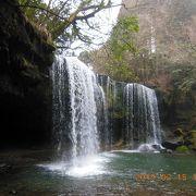 滝の裏側観察