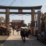 四天王寺の西側の入り口