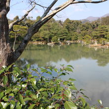 広い鏡湖池