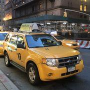 そこら中にいる黄色いタクシー