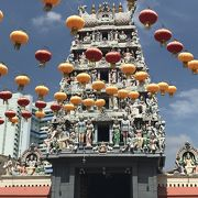 チャイナタウンにあるヒンズー教寺院