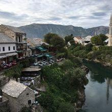 ネレトヴァ川西側はクロアチア人居住区