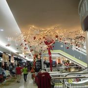 クリスマスの飾り付けはとてもきれいでした。
