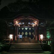 夜の中野氷川神社