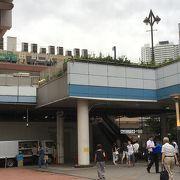 駅直結の商業エリア