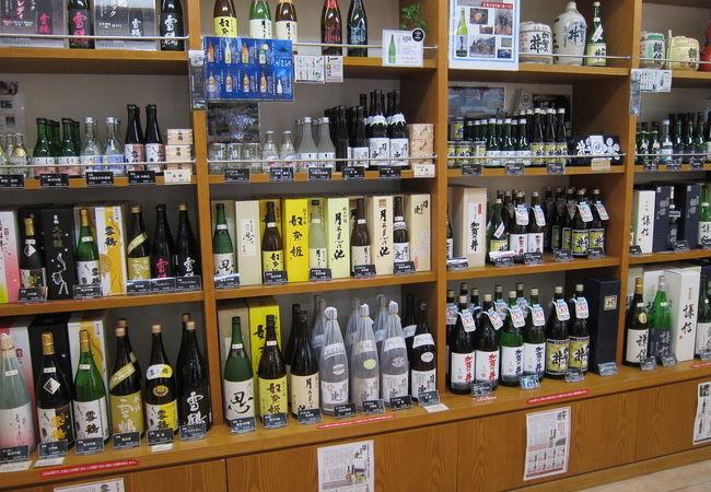 さすが新潟、地酒の品揃えが豊富