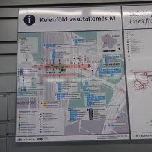 ケレンフォルディ駅周辺のマップ