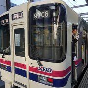 北野駅の乗り換えはホームの向い側