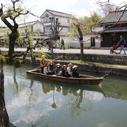 江戸時代天領倉敷の舟運を担った運河でした。