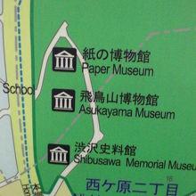 紙の博物館は、飛鳥山公園の3ケ所の博物館の最も北側にあります