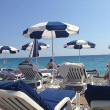 有料のビーチ