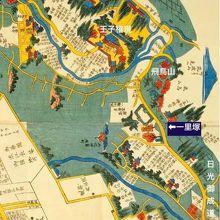 江戸時代の古絵図にも、飛鳥山の西ヶ原の一里塚が描かれています