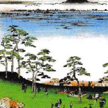江戸時代の錦絵にも、西ヶ原の一里塚一帯が描かれています。