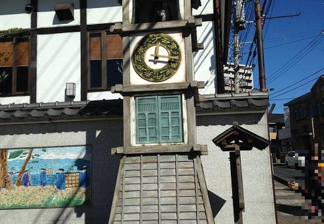 御成坂公園のからくり人形時計