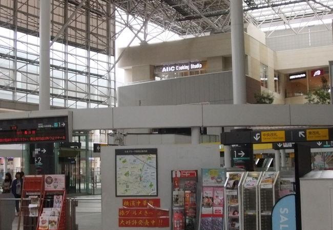 きれいな駅です