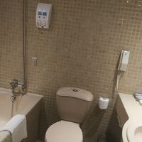 トイレは正方形の床と壁