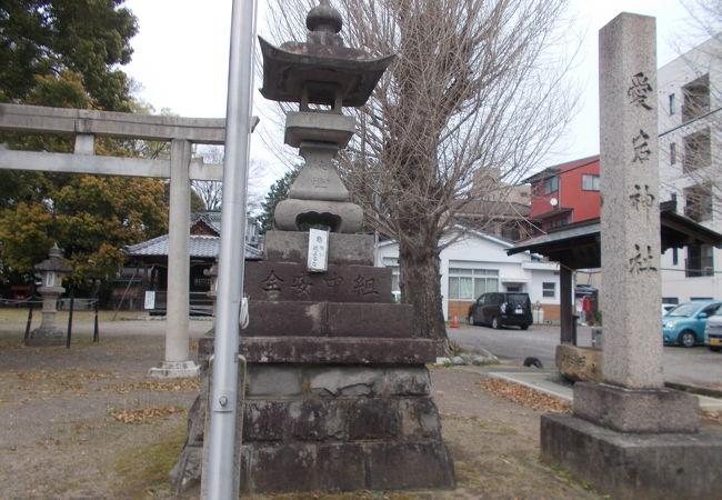 名鉄犬山駅の西側のエリアにあります。
