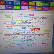 北京空港から天安門へは、まず東直門で2号線に乗り換えです。