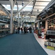 空港でアメリカの入国審査