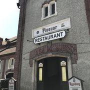 エッゲンベルグ醸造所併設のビアレストラン。