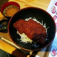 お勧めのソースかつ丼¥590