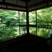 インスタばえ!新緑が床や机に映る寺院