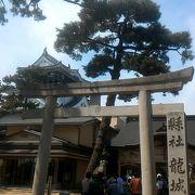 岡崎城の隣にある神社