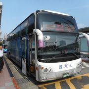 桃園・松山両空港を結ぶ1841番国光バスに乗車。ホテル目の前にバス停がある。