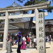岡崎城の隣に鎮座する神社